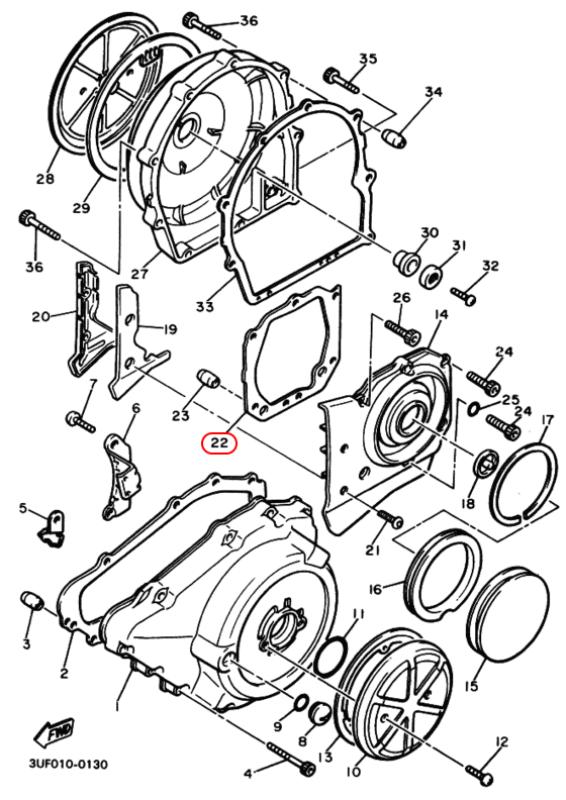 Прокладка Yamaha № 3JP-15461-01-00